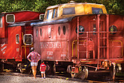 Old Cabooses Photos - Train - Car - Pennsylvania Northern Region Caboose 477823 by Mike Savad
