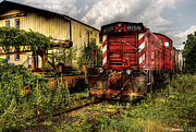 Abandoned Train Framed Prints - Train - Engine - 8159 Parked Framed Print by Mike Savad