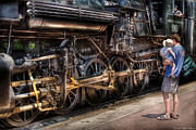 Steam Locomotive Prints - Train - Engine -  90 Great Western - All Aboard Print by Mike Savad