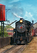 Train - Engine - Strasburg Number 9 Print by Mike Savad