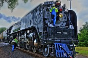 Joseph Porey Metal Prints - Train 844 crew Metal Print by Joseph Porey