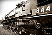 Joseph Porey Metal Prints - Train 844 Stopped Metal Print by Joseph Porey
