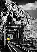 Harpers Ferry Posters - Train at Harpers Ferry Poster by Williams-Cairns Photography LLC