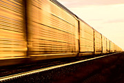 Streetlight Photos - Train at Sunset by Mark Duffy