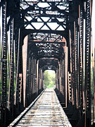 Jon Baldwin Art Framed Prints - Train Bridge Des Moines Iowa  Framed Print by Jon Baldwin  Art