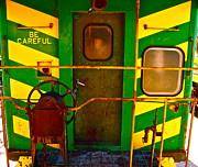 Caboose Prints - Train caboose Print by Chuck Taylor