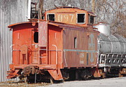 Old Caboose Posters - Train Caboose Poster by Deniece Platt