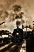 Rail Digital Art - Train Coming in the Station by Bill Cannon
