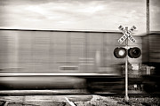 Train Crossing Prints - Train Keeps A Rollin Print by Jarrod Erbe