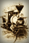 Rail Digital Art - Train Keeps a Rolling by Bill Cannon