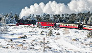 Brocken Prints - Train On The Brocken (harz) Print by © Finn Gonschior