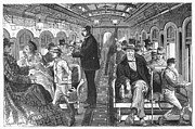 Train Car Framed Prints - Train: Passenger Car, 1876 Framed Print by Granger
