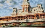 Train Station At Magic Kingdom Print by Paulette B Wright