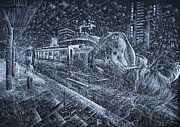 Train Station Drawings - Train Station by Bekim Mehovic