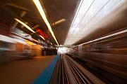 Train Tracks Photo Originals - Train station in motion by Sven Brogren