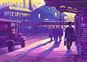 Autos Pastels - Train Station by Valerian Ruppert