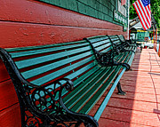 Red And Green Photo Metal Prints - Train Station waiting area Metal Print by Paul Ward