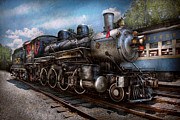 Black Blues Prints - Train - Steam - 385 Fully restored  Print by Mike Savad