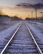 Sunset Art - Train Tracks and Color 2 by James Bo Insogna