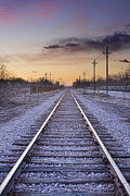 Train Tracks And Color Print by James BO  Insogna
