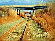 Train Tracks Painting Framed Prints - Train Tracks Framed Print by Deborah MacQuarrie