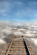Train Tracks Framed Prints - Train Tracks Into the Clouds Framed Print by Jill Battaglia