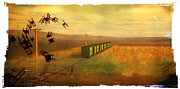 Rosy Hall Metal Prints - Train Unexplained Metal Print by Rosy Hall