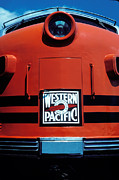 Locomotives Photos - Train Western Pacific by Garry Gay