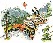 Storybook Originals - Train Wreck by Valerian Ruppert