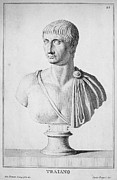 Statue Portrait Photo Prints - TRAJAN (c52-117) Print by Granger