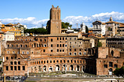 Location Framed Prints - Trajans Market  Framed Print by Fabrizio Troiani