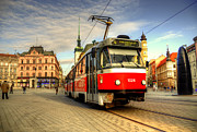 Tram Photo Framed Prints - Tram at Brno Framed Print by Rob Hawkins