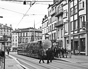 Tram Photos - Tram in Clermont Ferrand by Georgia Fowler