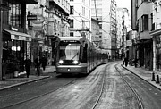 Tram Photos - Tram is Rolling by John Rizzuto