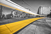 Colorkey Digital Art Metal Prints - Tram Train Berlin Metal Print by Marcus Klepper