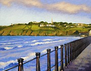 Landscape Greeting Cards Framed Prints - Tramore County Waterford Framed Print by John  Nolan