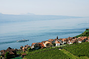 Winery Photography Framed Prints - Tranquil Lake Geneva Framed Print by Ivy Ho