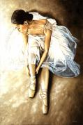 Ballet Paintings - Tranquil Preparation by Richard Young