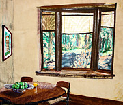 Interior Still Life Mixed Media Posters - Tranquility 5 Cabin in the Woods Poster by Drina Fried