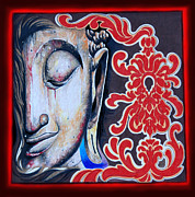 Tibetan Buddhism Mixed Media - Tranquility Buddha by Litos
