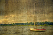 Row Boat Prints - Tranquility Print by Debra and Dave Vanderlaan