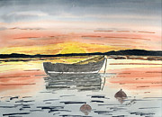 Sunset Drawings - Tranquility by Eva Ason
