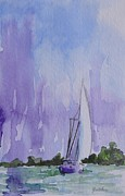 Sailboat Paintings - Tranquility by Gretchen Bjornson