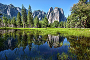 Park Scene Posters - Tranquility In Yosemite Poster by Mimi Ditchie Photography