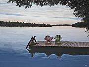 Adirondack Lakes Posters - Tranquility Poster by Kenneth M  Kirsch