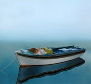 Tranquility Of The Sea Print by Larry Cirigliano