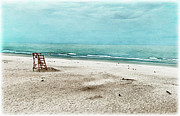 Hand Tinted Prints - Tranquility on Tybee Island Print by Tammy Wetzel
