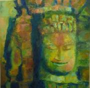 Angkor Paintings - Tranquility by Sangeeta Charan