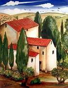 Toscana Paintings - Tranquillita Toscana by Roberto Gagliardi