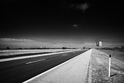 Trans Canada Highway 1 And Yellowhead Route In Manitoba Canada Print by Joe Fox